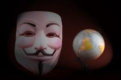 Maschera anonima (maschera di Guy Fawkes) Fotografie Stock