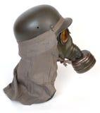 Maschera antigas e casco tedesca Fotografie Stock