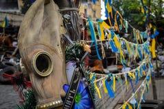 Maschera antigas a Kiev Fotografie Stock