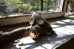 Maschera antigas 2, zona di Chornobyl Fotografie Stock Libere da Diritti