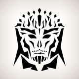 Maschera astratta, stile tribale Fotografia Stock