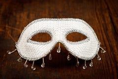 Maschera bianca brillante immagini stock