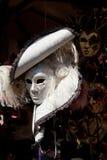 Maschera bianca di carnevale Fotografia Stock Libera da Diritti