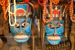 Maschera blu decorativa nepalese Fotografia Stock Libera da Diritti