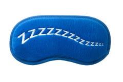 Maschera blu di sonno con lo zzzzz del segno Immagini Stock Libere da Diritti