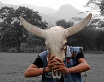Maschera Buffallo Fotografia Stock Libera da Diritti