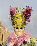 Maschera canival veneziana Fotografia Stock