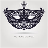 Maschera carnaval di bello modo Vettore disegnato a mano Immagini Stock Libere da Diritti