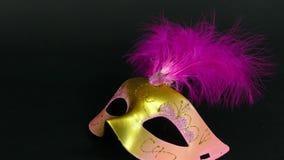 maschera carnaval su metraggio nero 4k stock footage