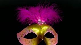 maschera carnaval su metraggio nero 4k archivi video