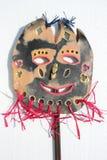 Maschera ceramica di fantasia Fotografia Stock Libera da Diritti