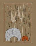 Maschera con gli elefanti royalty illustrazione gratis