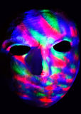 Maschera con le luci variopinte Fotografia Stock