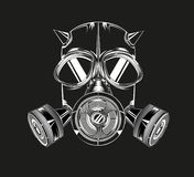 Maschera cornuta su un fondo nero Fotografia Stock