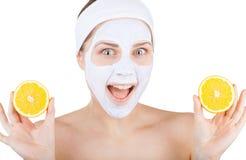 Maschera cosmetica Fotografia Stock Libera da Diritti