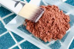 Maschera cosmetica fatta di cacao in polvere fotografia stock libera da diritti