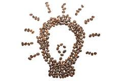 Maschera dei chicchi di caffè Fotografie Stock Libere da Diritti