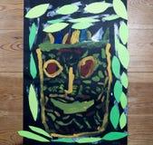 Maschera dei disegni del ` s dei bambini Immagini Stock