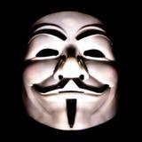 Maschera dei fawkes del tipo degli attivisti Immagine Stock Libera da Diritti