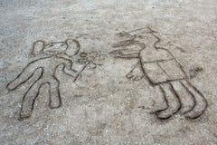 Maschera del bambino sulla sabbia royalty illustrazione gratis