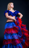 Maschera del danzatore di flamenco Immagine Stock Libera da Diritti