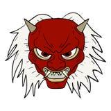Maschera del demone Fotografia Stock