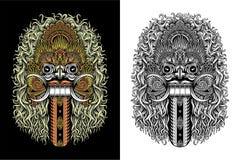 Maschera del demone di balinese Fotografia Stock