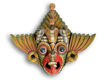 Maschera del diavolo della cobra dallo Sri Lanka fotografie stock