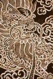 Maschera del drago nell'arte tailandese di stile Fotografie Stock Libere da Diritti