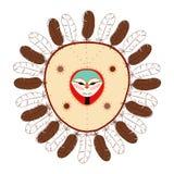 Maschera del nativo americano Immagini Stock Libere da Diritti