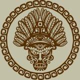 Maschera del nativo americano Fotografia Stock