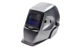Maschera del saldatore nel fondo bianco Fotografie Stock