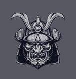 Maschera del samurai Fotografie Stock Libere da Diritti