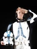 Maschera dell'astronauta Fotografia Stock Libera da Diritti