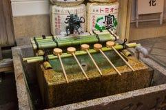 Maschera della fontana giapponese di purificazione Fotografia Stock Libera da Diritti