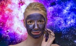 Maschera della galassia immagini stock libere da diritti
