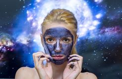 Maschera della galassia fotografie stock libere da diritti