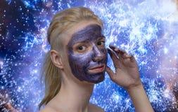 Maschera della galassia fotografia stock