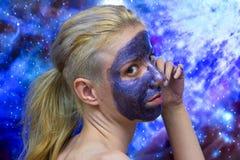 Maschera della galassia immagine stock