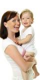 Maschera della madre felice con il bambino fotografia stock libera da diritti