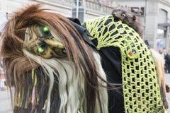 Maschera della strega con gli occhi brillanti verdi Immagine Stock Libera da Diritti
