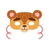 Maschera della testa dell'animale dell'orso bruno, elemento del costume di travestimento di carnevale dei bambini Fotografie Stock Libere da Diritti