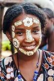 Maschera di bellezza di Sakalava Fotografia Stock Libera da Diritti
