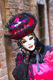 Maschera di Carneval a Venezia - costume veneziano Immagine Stock