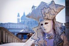 Maschera di Carneval a Venezia - costume veneziano Fotografia Stock Libera da Diritti