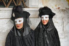 Maschera di Carneval a Venezia - costume veneziano Immagini Stock Libere da Diritti