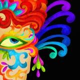 Maschera di carnevale Immagini Stock