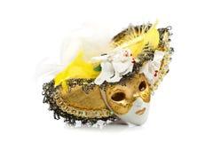 Maschera di carnevale dell'argilla fotografia stock
