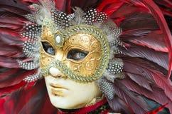 Maschera di carnevale di Venezia Fotografie Stock Libere da Diritti