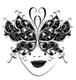 Maschera di carnevale. Maschere della farfalla per un travestimento. royalty illustrazione gratis
